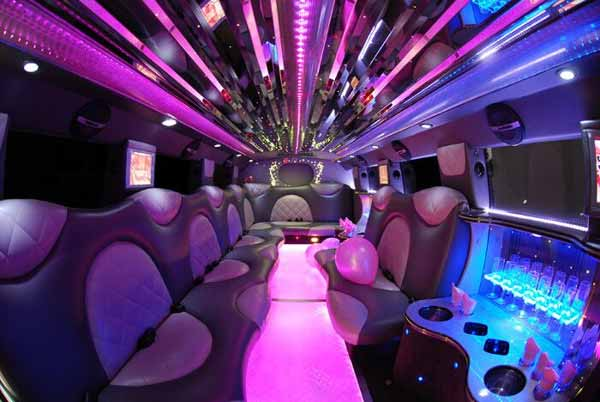 Cadillac Escalade limo interior Green Valley