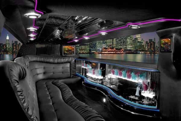 Chrysler 300 limo interior Casas Adobes