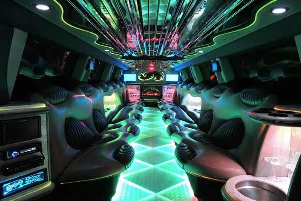 Hummer limo interior Three Points