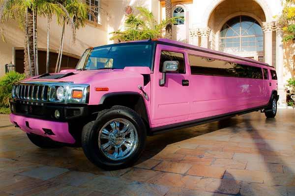 pink hummer limo service Glendale