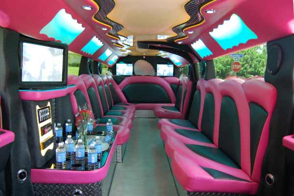 pink hummer limousine Three Points