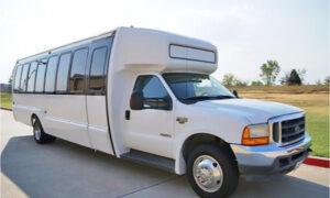 20 passenger shuttle bus rental Benson